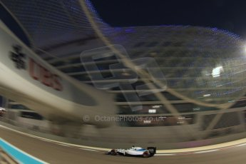 World © Octane Photographic Ltd. Friday 21st November 2014. Abu Dhabi Grand Prix - Yas Marina Circuit - Formula 1 Practice 2. Williams Martini Racing FW36 – Felipe Massa. Digital Ref: 1161CB7D8181