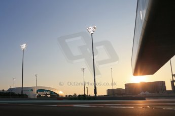 World © Octane Photographic Ltd. Friday 21st November 2014. Abu Dhabi Grand Prix - Yas Marina Circuit - Formula 1 Practice 2. Yas Marina circuit at sunset. Digital Ref: 1161LB1D4596