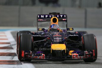 World © Octane Photographic Ltd. Friday 21st November 2014. Abu Dhabi Grand Prix - Yas Marina Circuit - Formula 1 Practice 2. Infiniti Red Bull Racing RB10 - Sebastian Vettel. Digital Ref: 1161LB1D5470