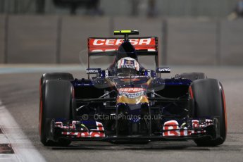 World © Octane Photographic Ltd. Friday 21st November 2014. Abu Dhabi Grand Prix - Yas Marina Circuit - Formula 1 Practice 2. Scuderia Toro Rosso STR 9 – Daniil Kvyat. Digital Ref: 1161LB1D5481