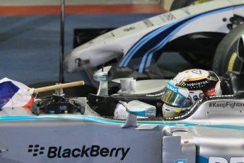 World © Octane Photographic Ltd. Sunday 23rd November 2014. Abu Dhabi Grand Prix - Yas Marina Circuit - Formula 1 Podium. Mercedes AMG Petronas – Lewis Hamilton - Race winner and 2014 World Champion. Digital Ref: 1173CB1D0394