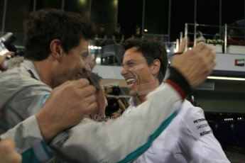 World © Octane Photographic Ltd. Sunday 23rd November 2014. Abu Dhabi Grand Prix - Yas Marina Circuit - Formula 1 Podium. Mercedes AMG Petronas – Toto Wolff. Digital Ref: 1173LB1D7526