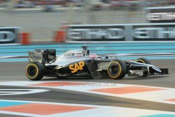 World © Octane Photographic Ltd. 2014 Formula 1 Abu Dhabi Grand Prix, F1 Qualifying, Saturday 22nd November 2014. McLaren Mercedes MP4/29 - Jenson Button. Digital Ref : 1166CB1D8200