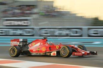 World © Octane Photographic Ltd. 2014 Formula 1 Abu Dhabi Grand Prix, F1 Qualifying, Saturday 22nd November 2014. Scuderia Ferrari F14T - Fernando Alonso. Digital Ref : 1166CB1D8225