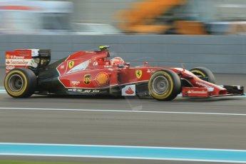 World © Octane Photographic Ltd. 2014 Formula 1 Abu Dhabi Grand Prix, F1 Qualifying, Saturday 22nd November 2014. Scuderia Ferrari F14T – Kimi Raikkonen. Digital Ref : 1166CB1D8250