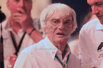 World © Octane Photographic Ltd. 2014 Formula 1 Abu Dhabi Grand Prix, F1 Qualifying, Saturday 22nd November 2014. Bernie Ecclestone. Digital Ref : 1166CB1D9009