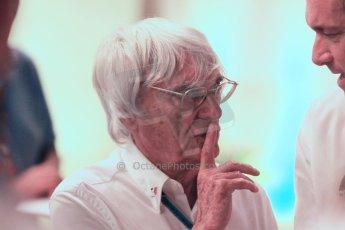 World © Octane Photographic Ltd. 2014 Formula 1 Abu Dhabi Grand Prix, F1 Qualifying, Saturday 22nd November 2014. Bernie Ecclestone. Digital Ref : 1166CB1D9028