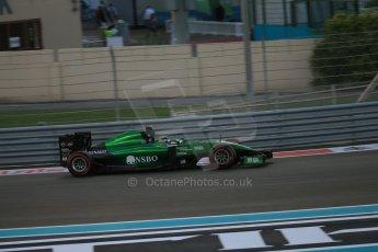 World © Octane Photographic Ltd. Saturday 22nd November 2014. Abu Dhabi Grand Prix - Yas Marina Circuit - Formula 1 Qualifying. Caterham F1 Team CT05 – Kamui Kobayashi. Digital Ref: 1166LB1D0863
