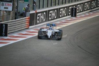 World © Octane Photographic Ltd. Saturday 22nd November 2014. Abu Dhabi Grand Prix - Yas Marina Circuit - Formula 1 Qualifying. Williams Martini Racing FW36 – Valtteri Bottas. Digital Ref: 1166LB1D0997