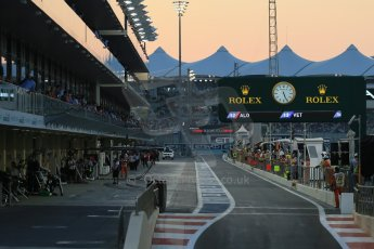 World © Octane Photographic Ltd. Saturday 22nd November 2014. Abu Dhabi Grand Prix - Yas Marina Circuit - Formula 1 Qualifying pit lane. Digital Ref: 1166LB1D1327