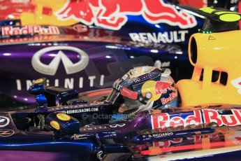 World © Octane Photographic Ltd. 2014 Formula 1 Abu Dhabi Grand Prix, F1 Qualifying, Saturday 22nd November 2014. Infiniti Red Bull Racing - Daniel Ricciardo. Digital Ref : 1166LW1L8392