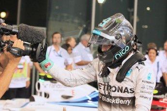 World © Octane Photographic Ltd. 2014 Formula 1 Abu Dhabi Grand Prix, F1 Qualifying, Saturday 22nd November 2014. Mercedes AMG Petronas F1 W05 - Nico Rosberg. Digital Ref : 1166LW1L8420