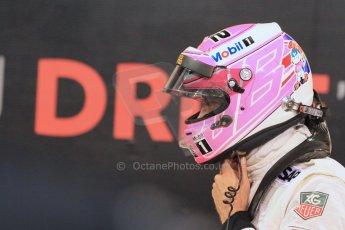 World © Octane Photographic Ltd. 2014 Formula 1 Abu Dhabi Grand Prix, F1 Qualifying, Saturday 22nd November 2014. McLaren Mercedes - Jenson Button. Digital Ref : 1166LW1L8476