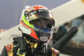 World © Octane Photographic Ltd. Sunday 23rd November 2014. Abu Dhabi Grand Prix - Yas Marina Circuit - Formula 1 Race. Lotus F1 Team E22 – Pastor Maldonado. Digital Ref: