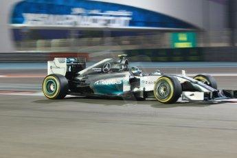 World © Octane Photographic Ltd. Sunday 23rd November 2014. Abu Dhabi Grand Prix - Yas Marina Circuit - Formula 1 Race. Mercedes AMG Petronas F1 W05 Hybrid – Nico Rosberg. Digital Ref: