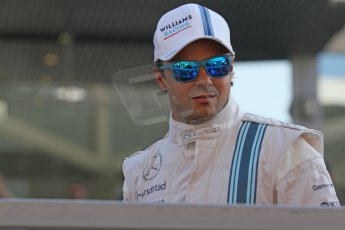 World © Octane Photographic Ltd. Sunday 23rd November 2014. Abu Dhabi Grand Prix - Yas Marina Circuit - Formula 1 Drivers Parade. Williams Racing - Felipe Massa. Digital Ref: