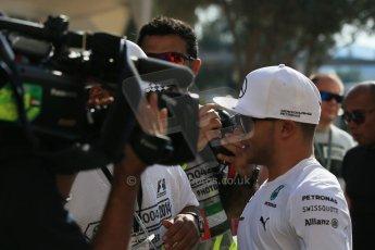 World © Octane Photographic Ltd. Sunday 23rd November 2014. Abu Dhabi Grand Prix - Yas Marina Circuit - Nic (Nicolas) Hamilton. Digital Ref: