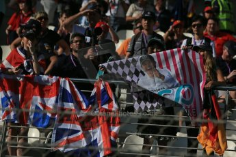 World © Octane Photographic Ltd. Sunday 23rd November 2014. Abu Dhabi Grand Prix - Yas Marina Circuit - Fans in the grandstand. Digital Ref: