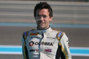 World © Octane Photographic Ltd. Sunday 23rd November 2014. Abu Dhabi Grand Prix - GP2 and GP3 champions photo shoot. Jolyon Palmer - DAMS - GP2 Champion. Digital Ref: 1168CB1D6507