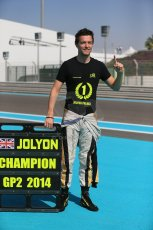 World © Octane Photographic Ltd. Sunday 23rd November 2014. Abu Dhabi Grand Prix - GP2 and GP3 champions photo shoot. Jolyon Palmer - DAMS - GP2 Champion. Digital Ref: 1168CB1D6522
