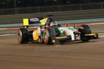 World © Octane Photographic Ltd. 2014 Formula 1 Abu Dhabi Grand Prix, GP2 Qualifying, Friday 21st November 2014. Nicholas Latifi - Hilmer Motorsport. Digital Ref : 1162CB1D7401