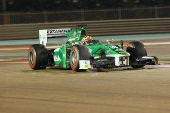 World © Octane Photographic Ltd. 2014 Formula 1 Abu Dhabi Grand Prix, GP2 Qualifying, Friday 21st November 2014. Rio Haryanto – Caterham Racing. Digital Ref : 1162CB1D7406