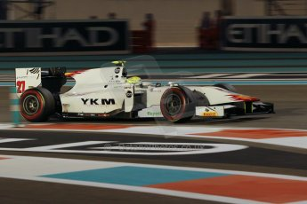 World © Octane Photographic Ltd. 2014 Formula 1 Abu Dhabi Grand Prix, GP2 Qualifying, Friday 21st November 2014. Kimiya Sato - Campos Racing. Digital Ref : 1162CB1D7450