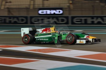 World © Octane Photographic Ltd. 2014 Formula 1 Abu Dhabi Grand Prix, GP2 Qualifying, Friday 21st November 2014. Pierre Gasly – Caterham Racing. Digital Ref : 1162CB1D7470