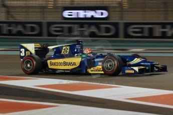 World © Octane Photographic Ltd. 2014 Formula 1 Abu Dhabi Grand Prix, GP2 Qualifying, Friday 21st November 2014. Felipe Nasr - Carlin. Digital Ref : 1162CB1D7504