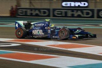 World © Octane Photographic Ltd. 2014 Formula 1 Abu Dhabi Grand Prix, GP2 Qualifying, Friday 21st November 2014. Julian Leal - Carlin. Digital Ref : 1162CB1D7509