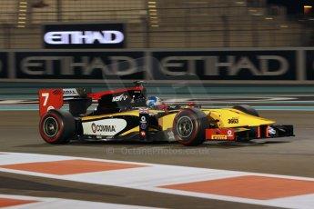 World © Octane Photographic Ltd. 2014 Formula 1 Abu Dhabi Grand Prix, GP2 Qualifying, Friday 21st November 2014. Jolyon Palmer - DAMS. Digital Ref : 1162CB1D7527