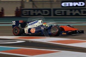 World © Octane Photographic Ltd. 2014 Formula 1 Abu Dhabi Grand Prix, GP2 Qualifying, Friday 21st November 2014. Sergio Canamasas - Trident. Digital Ref : 1162CB1D7532