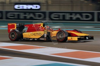 World © Octane Photographic Ltd. 2014 Formula 1 Abu Dhabi Grand Prix, GP2 Qualifying, Friday 21st November 2014. Raffaele Marciello - Racing Engineering. Digital Ref : 1162CB1D7538
