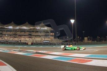 World © Octane Photographic Ltd. 2014 Formula 1 Abu Dhabi Grand Prix, GP2 Qualifying, Friday 21st November 2014. Pierre Gasly – Caterham Racing. Digital Ref : 1162CB7D8223