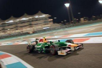 World © Octane Photographic Ltd. 2014 Formula 1 Abu Dhabi Grand Prix, GP2 Qualifying, Friday 21st November 2014. Pierre Gasly – Caterham Racing. Digital Ref : 1162CB7D8291