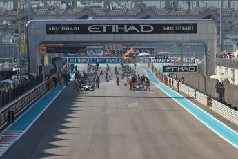 World © Octane Photographic Ltd. Sunday 23rd November 2014. GP2 Race 2 – Abu Dhabi GP - Yas Marina Circuit, United Arab Emirates. The grid forms up. Digital Ref :1170CB1D9328
