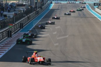 World © Octane Photographic Ltd. Sunday 23rd November 2014. GP3 Race 2 – Abu Dhabi GP - Yas Marina Circuit, United Arab Emirates. Patric Neiderhauser - Arden International leads the field. Digital Ref :