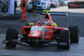 World © Octane Photographic Ltd. Sunday 23rd November 2014. GP3 Race 2 Parc Ferme– Abu Dhabi GP - Yas Marina Circuit, United Arab Emirates. Patric Neiderhauser - Arden International. Digital Ref :1169LB1D6708