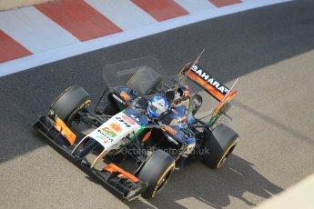 World © Octane Photographic Ltd. Tuesday 25th November 2014. Abu Dhabi Testing - Yas Marina Circuit. Sahara Force India VJM07 – Jolyon Palmer. Digital Ref : 1174CB1D8037
