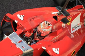World © Octane Photographic Ltd. Tuesday 25th November 2014. Abu Dhabi Testing - Yas Marina Circuit. Scuderia Ferrari F14T - Kimi Raikkonen. Digital Ref: 1174CB1D8102