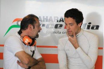 World © Octane Photographic Ltd. Tuesday 25th November 2014. Abu Dhabi Testing - Yas Marina Circuit. Sahara Force India VJM07 – Jolyon Palmer. Digital Ref : 1174CB1D8190