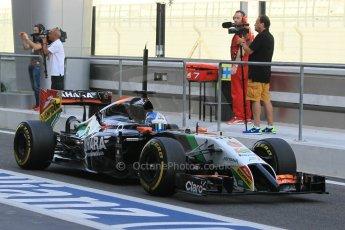 World © Octane Photographic Ltd. Tuesday 25th November 2014. Abu Dhabi Testing - Yas Marina Circuit. Sahara Force India VJM07 – Jolyon Palmer. Digital Ref : 1174CB1D8285