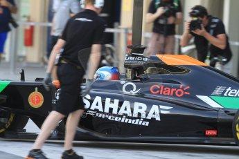 World © Octane Photographic Ltd. Tuesday 25th November 2014. Abu Dhabi Testing - Yas Marina Circuit. Sahara Force India VJM07 – Jolyon Palmer. Digital Ref : 1174CB7D8570