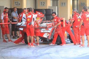 World © Octane Photographic Ltd. Tuesday 25th November 2014. Abu Dhabi Testing - Yas Marina Circuit. Scuderia Ferrari F14T - Kimi Raikkonen. Digital Ref: 1174CB7D8605