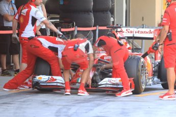 World © Octane Photographic Ltd. Tuesday 25th November 2014. Abu Dhabi Testing - Yas Marina Circuit. Scuderia Ferrari F14T - Kimi Raikkonen. Digital Ref: 1174CB7D8611