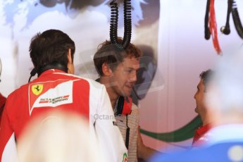 World © Octane Photographic Ltd. Tuesday 25th November 2014. Abu Dhabi Testing - Yas Marina Circuit. Scuderia Ferrari - Sebastian Vettel. Digital Ref: 1174CB7D8665