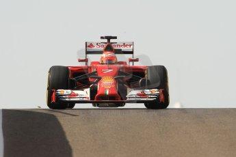 World © Octane Photographic Ltd. Tuesday 25th November 2014. Abu Dhabi Testing - Yas Marina Circuit. Scuderia Ferrari F14T - Kimi Raikkonen. Digital Ref: 1174CB7D8721