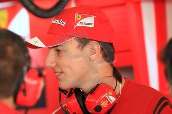 World © Octane Photographic Ltd. Tuesday 25th November 2014. Abu Dhabi Testing - Yas Marina Circuit. Scuderia Ferrari - Raffaele Marciello. Digital Ref: 1174CB7D8752