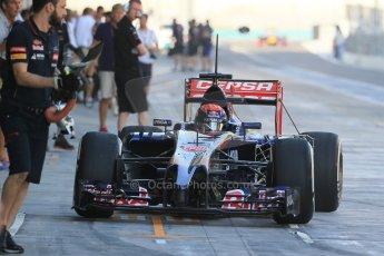 World © Octane Photographic Ltd. Tuesday 25th November 2014. Abu Dhabi Testing - Yas Marina Circuit. Scuderia Toro Rosso STR9 – Max Verstappen. Digital Ref: 1174LB1D7934