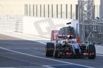 World © Octane Photographic Ltd. Tuesday 25th November 2014. Abu Dhabi Testing - Yas Marina Circuit. Lotus F1 Team E22 – Charles Pic. Digital Ref: 1174LB1D8146